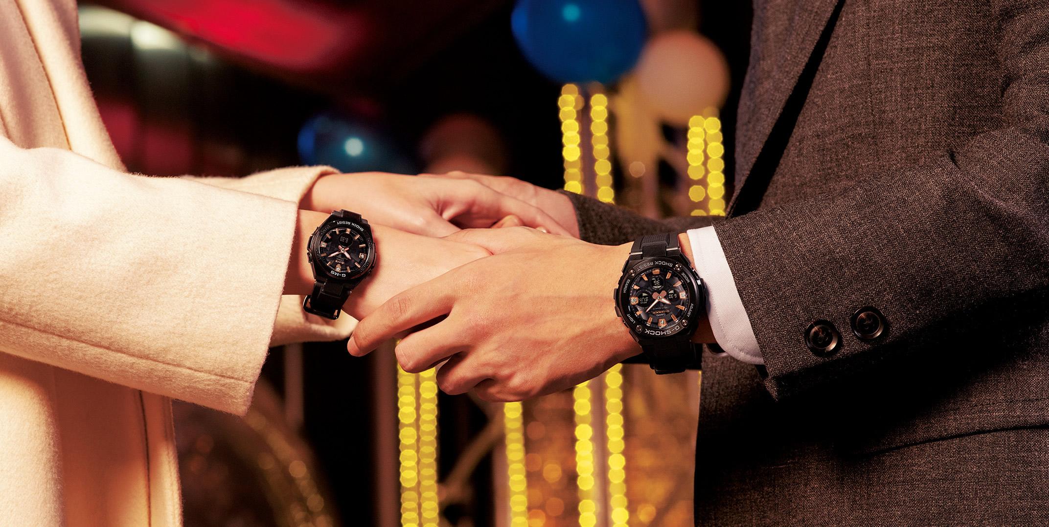 Pair Watches Baby G Shock Casio Ga 110fc 1adr